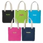 Monogrammed Tote Bags - Easy Totes - 5 Color Choices!