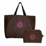 Monogrammed Tote Gift Set - New! Chocolate & Berries