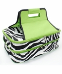 Monogrammed Zebra Print Insulated Casserole Tote - Personalized Free!
