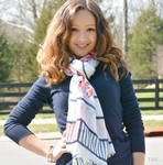 Nautical Print Scarf - Lobster Print Scarf