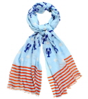 Nautical Theme Scarf - Lobster Print Scarf