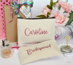 Personalized Bridesmaid Cosmetic Bag Set - Glitter Monogram