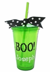 Personalized Halloween Tumbler, Green - Great Party Favor