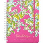 Personalized Lilly Pulitzer Large Agenda - Pink Lemonade