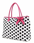 Polka Dot Monogrammed Overnight Tote Bag - Personalized Free!