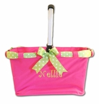 Preppy Monogrammed Collapsible Market Tote