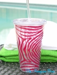 Zebra Print 24 OZ Double Wall Tumbler- Personalized Free!