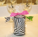 Zebra Print Faux Leather Koozie - Great Party Favor - Now 40% OFF