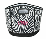 Zebra Print Monogrammed Party Tub