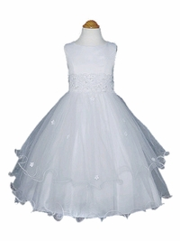 Christine Two Tiered Dress<br>(White, Ivory, Pink colors available)