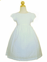 Simple & Clean White Cotton First Communion Dress