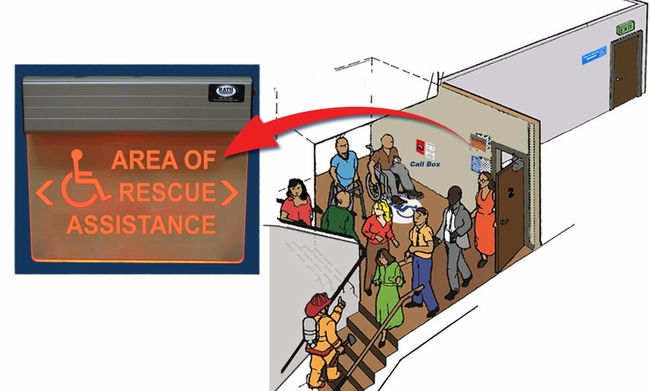 7090 D Area Of Rescue Illuminated Wall Sign Rath Area