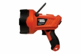 Black&Decker LIONHALB Cordless Rechargeable Lithium Halogen 950 Lumens Spotlight