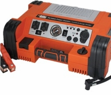 Black & Decker PPRH5B Cordless Rechargeable Portable 500 Watt Power Station with 12 Volt 450 Amp Jump Starter, 120 PSI Air Compressor, USB Port and 120 Volt Outlets