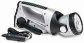RoadPro RPLK-503R Spin Charge LED Flashlight with FM Radio and 12 Volt Charger