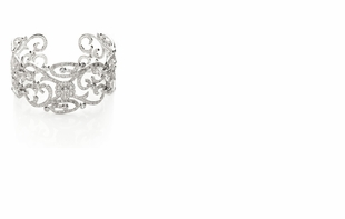Dessy Accessories - CZ Estate Scroll Cuff Bracelet