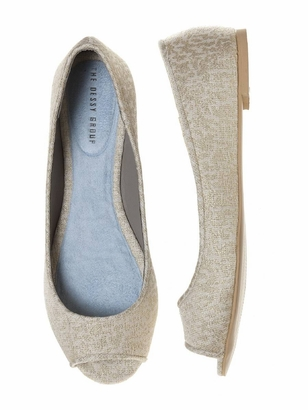 Dessy Accessories: Dessy Park Ave Open Toe Flat