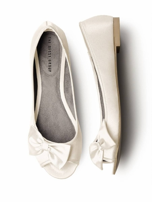 Dessy Accessories: Dessy Peep Toe Flat