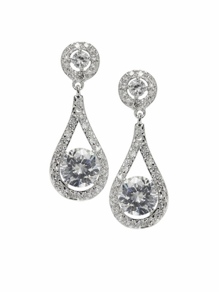 Dessy Accessories: Dessy Solitaire Drop Earrings