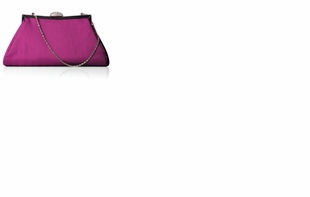 Dessy Accessories - Dupioni Trapezoid Clutch with Jeweled Clasp