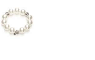 Dessy Accessories - Faux Pearl and Rhinestone Bracelet