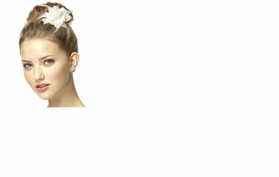 Dessy Accessories - Nu Georgette and Feather Flower Bridal Hair Clip