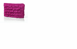 Dessy Accessories - Peau De Soie Ruffle Clutch