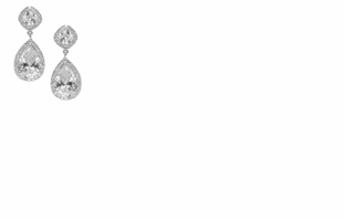 Dessy Accessories - Petite Teardrop Cubic Zirconia Drop Earrings