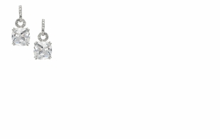 Dessy Accessories - Princess Cut Cubic Zirconia Earrings