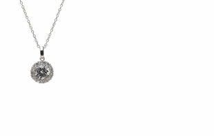 Dessy Accessories - Solitaire Pendant Necklace with Bezel Detail