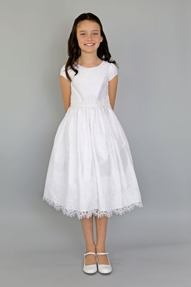 Us Angels Flowergirl Dress  ALLISON TEA