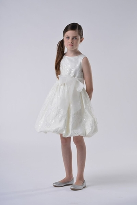 Us Angels Flowergirl Dress BABY'S BREATH