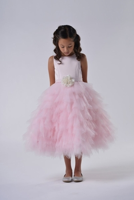 Us Angels Flowergirl Dress PEONY