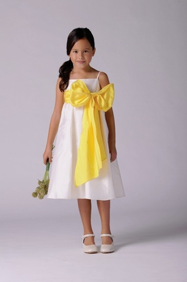 Us Angels Flowergirl Dress SILKY TAFFETA
