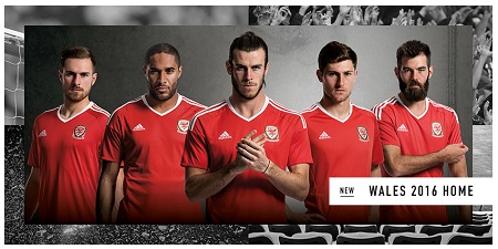 Wales 2016 Home Jersey