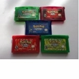 5 Pokemon GBA Game Bundle LeafGreen, FireRed, Emerald, Ruby, and Sapphire Versions, used