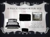 8-Piece King Bed Comforter Set, new