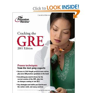 Cracking the GRE, 2011 Edition (Graduate School Test Preparation) by Princeton Review (Paperback) new