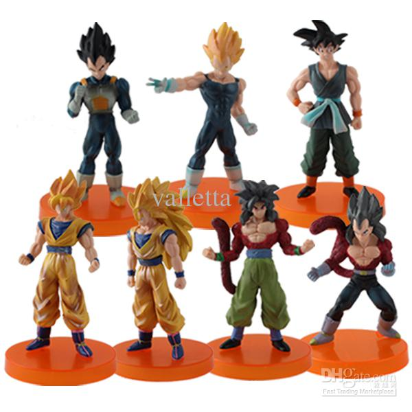 Japanese Anime Dragon Ball Z Characters Set Of 7 11cm Each Toys New