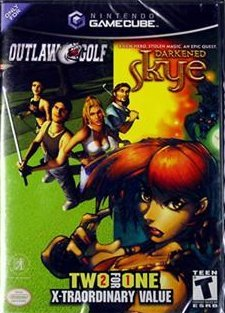 Outlaw Golf / Darkened Skye (Video Games, Gamecube) new