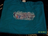 T-Shirt, American Cancer Society: Relay for Life- Light Blue, new