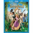Tangled (Two-Disc Blu-ray/DVD Combo) Starring Mandy Moore and Zachary Levi (2011), new