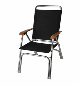 Garelick Chair 35037-62 HIGH BACK DECK CHAIR, NAVY
