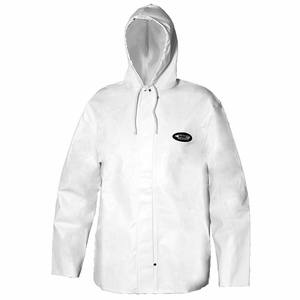 Grundens Clipper 82 Parka Hooded Jackets PVC/Cotton -White