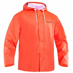 Grundens Petrus 82 Parka Hooded Jackets PU/Poly -Orange