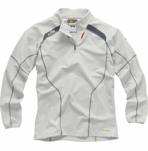 RC019 Race Softshell 1/4 ZipSmock: Silver - Graphite