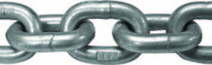"Titan G-43 ISO 3/8"" HDG Chain, Price Per Foot"
