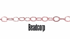 1.32mm Rose Gold Filled Light Flat Cable Chain 14/20kt. (Sold Per Foot)