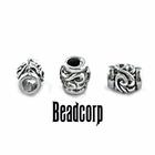 "10x8mm European, Pandora Type Bead Stopper  ""Scroll"""