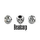 "10x8mm European, Pandora Type Bead Stopper ""Snowflake"""